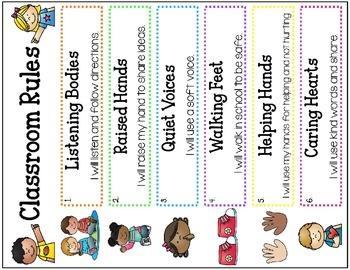 Classroom Rules (Chevron & Polka Dot Posters)