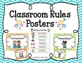 Classroom Rules (Chevron & Polka Dot Posters)