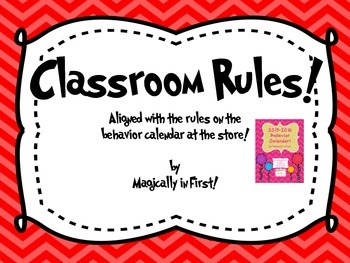 Classroom Rules - Chevron Set