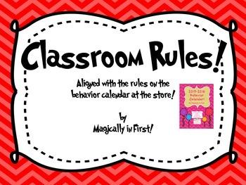 Classroom Rules - Chevron Set