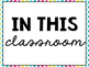 Classroom Rules {Chevron Themed} FREEBIE