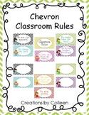 Classroom Rules in Chevron {editable}