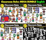 Classroom Rules Clipart Bundle English Clips Bilingual Stars Mrs. Partida