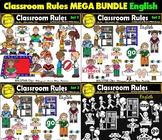 Classroom Rules Clipart Bundle English Clips Bilingual Stars Mrs. Partida