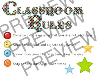 Classroom Rules - Clowning Around