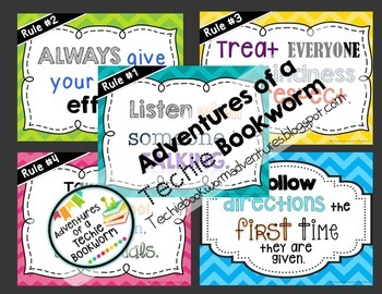 Classroom Rules-Colorful Poster Pack