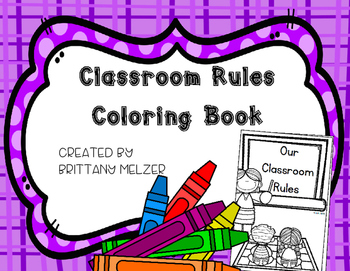 Classroom Rules Coloring Book (FLASH FREEBIE)