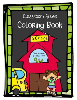 Classroom Rules Coloring and Discussion Book