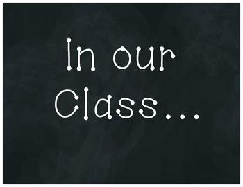 Classroom Rules & Community