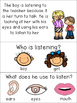 Classroom Rules Comprehension Stories