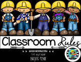 Classroom Rules-Construction Theme (Editable)