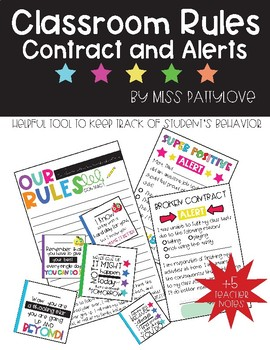 Classroom Rules Contract and Alerts*