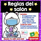 Classroom Rules Covid (Bears) Editable- Reglas del salon Covid