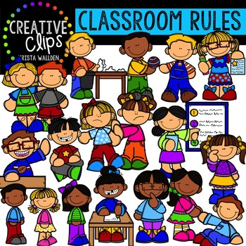 Classroom Rules {Creative Clips Digital Clipart}