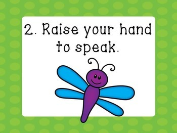 Classroom Rules- Cute Dragonfly theme