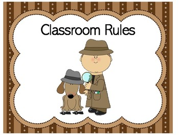 Classroom Rules Detective | Detective Theme | Detective Class Rules