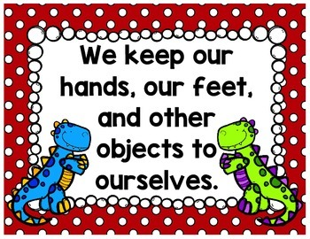 Classroom Rules {Dinosaurs}