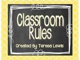 Classroom Rules Display