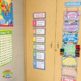 Classroom Rules Display - Purple and Wood Versions - Editable