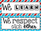 Classroom Rules Display in a Dr S Decor Theme