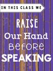Classroom Rules -Distressed Wood Purple (Classroom Decor)
