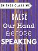 Classroom Rules -Distressed Wood Purple (Classroom Decor)