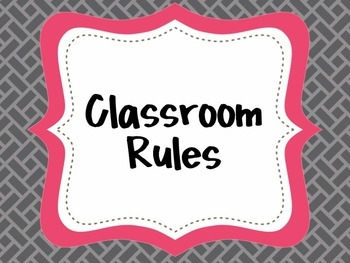 {Classroom Rules} EDITABLE