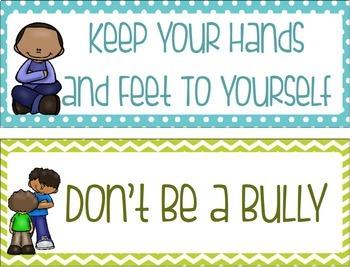 Classroom Rules Poster Set Editable