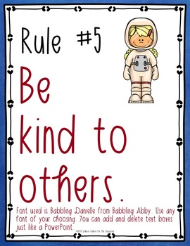 Classroom Rules EDITABLE Text - Space/Soaring to Success Decor