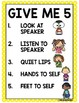 Classroom Rules- Yellow Polka Dot Theme {ENGLISH}