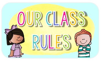 Classroom Rules & Early Finisher Choices: Watercolor Classroom Decor