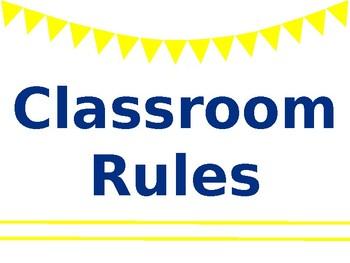 Classroom Rules (Editable)