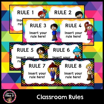 Classroom Rules EDITABLE