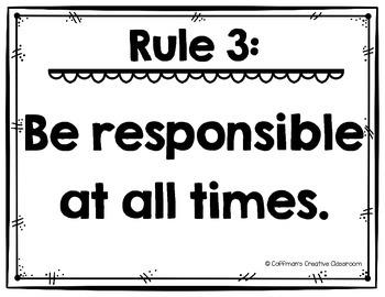 Classroom Rules ~ Editable