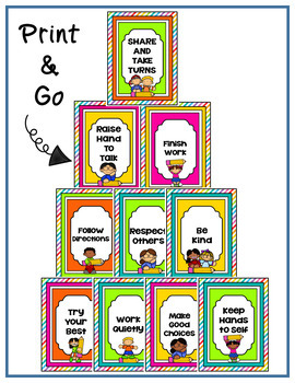 Classroom Rules Editable Cute Kids Theme