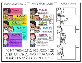 Classroom Rules - Editable Presentation {Brights Melonheadz}