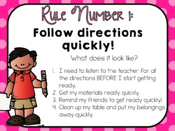 Classroom Rules - Editable Presentation {Kidlettes Polka Dot Edition}