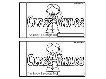 Classroom Rules Emergent Reader