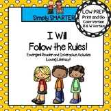 Classroom Rules Emergent Reader Book AND Interactive Activities