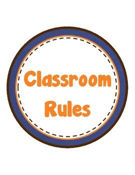 Classroom Rules (English)