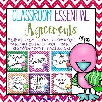 Classroom Rules little birdie theme