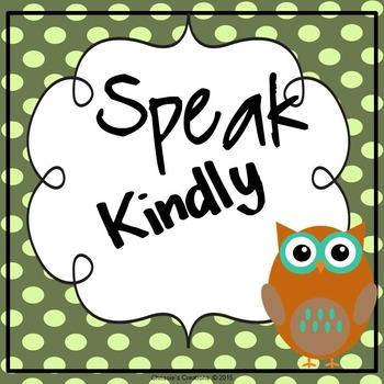Classroom Rules fall owl theme