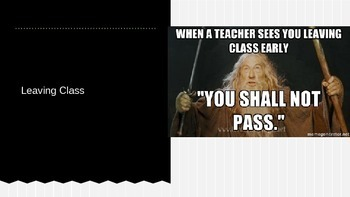 Classroom Rules & Expectations Memes