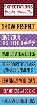 Classroom Rules & Expectations Poster (Custom)
