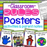 Rainbow Design Classroom Rules for Preschool, Pre-K, and K