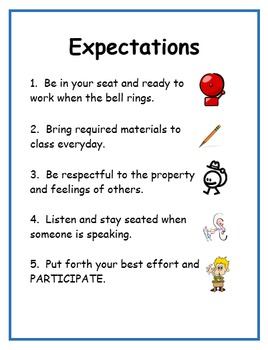 Classroom Rules/Expectations and Consequences EDITABLE