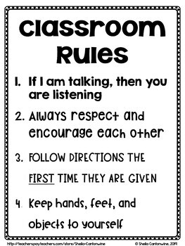 Classroom Rules (FREE)