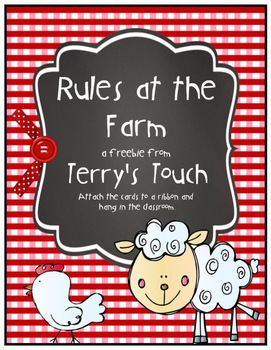 Classroom Rules Farm Theme