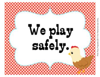Classroom Rules Farm Theme