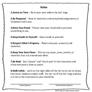 Rules For Secondary Students